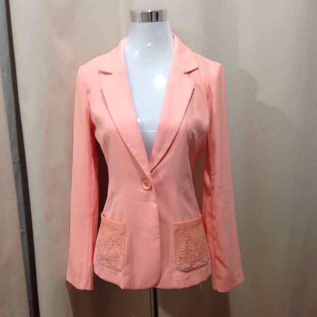 Sweet orange blazer