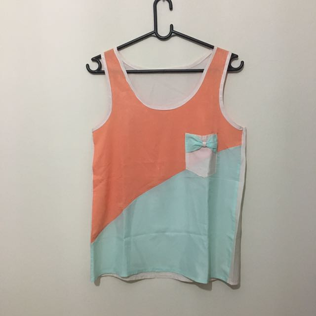 Tanktop Orange Baby Blue 😘