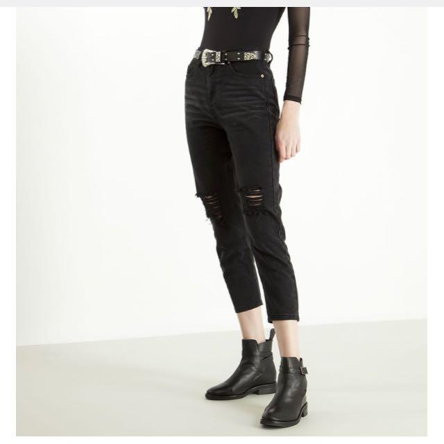 BNWT Temt Black Clark Straight Jeans