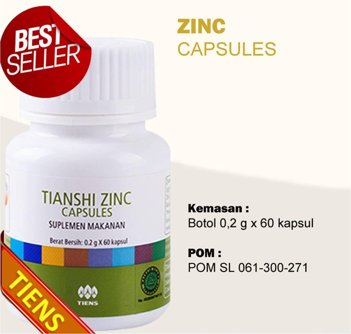 Tiens Zinc Kapsul L Peninggi Badan Isi 60 Kapsul L Vitamin Perbaikan