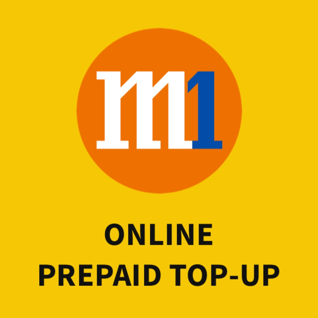 Top up now, pay 30 days later. M1 prepaid top-ups