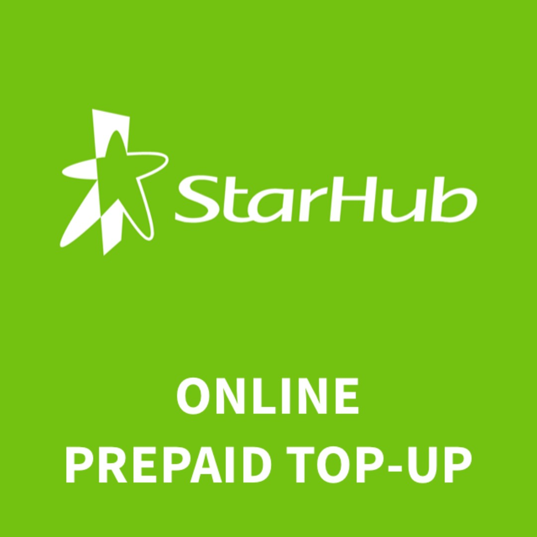 Top up now, pay 30 days later. Starhub prepaid top-ups