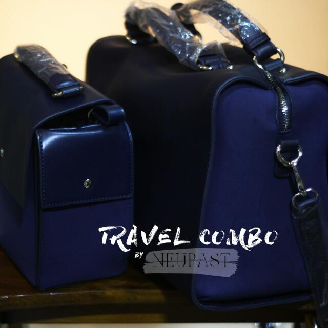 LAST PAIR SALE Travel Combo Bag Set: Sling And Handcarry