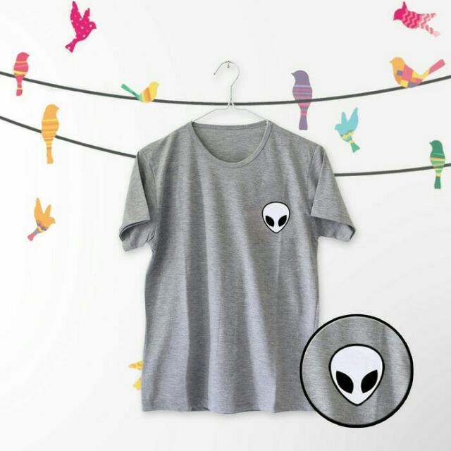 Tumblr tee/T-shirt / kaos wanita lengan pendek Alien.