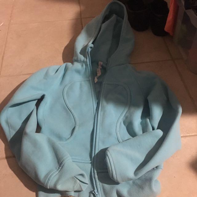 XS Teal Original Lululemon Zip Up Hoodie