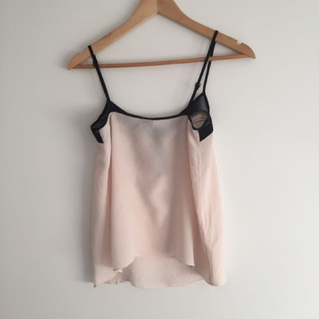 Urban Outfitters Pink Lace Cami