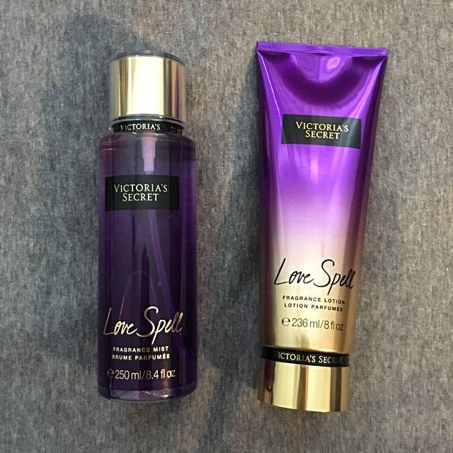 1e52de5669 Victoria s Secret Fragrance Set - Love Spell Fragrance Mist + Lotion ...