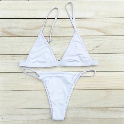 * Only One Left * White cheeky bikini set