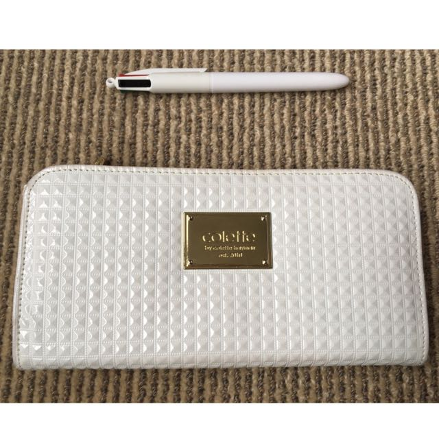 White Collete Wallet