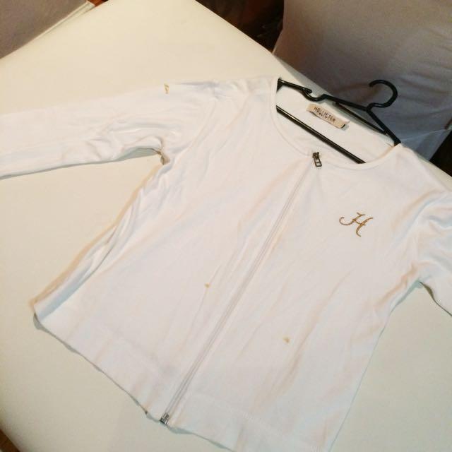 White Hollister Jacket