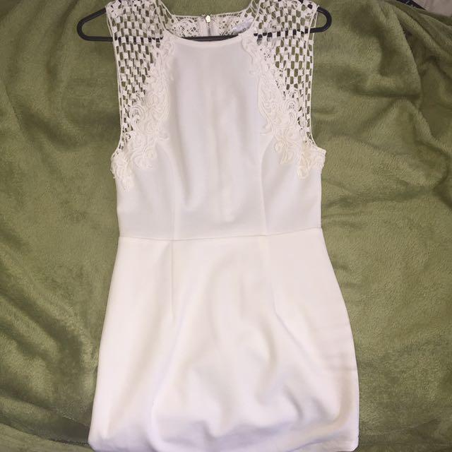 White Zip Up Dress