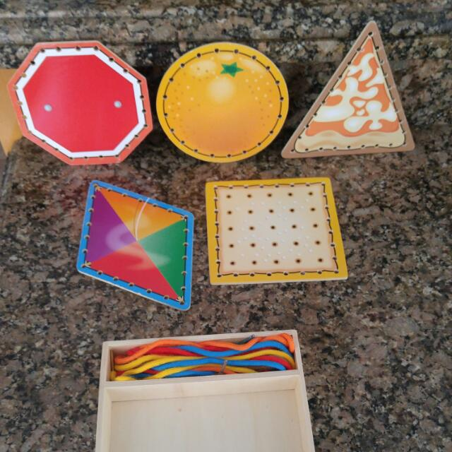 Wooden Sewing Kit. Ages 3+