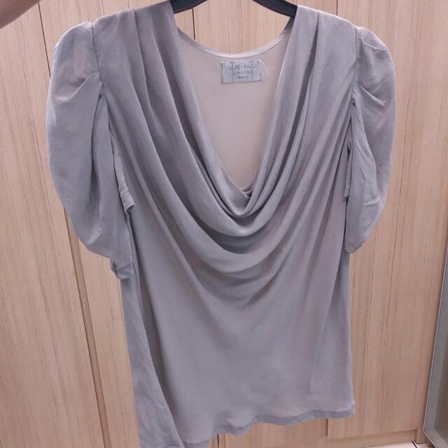 Xsml Ladies Grey Satin