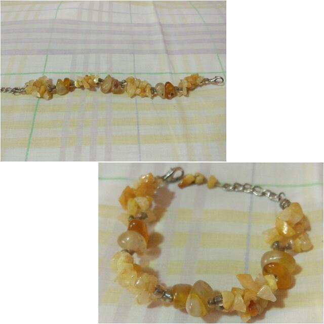Yellow Caramel Stone Bracelet