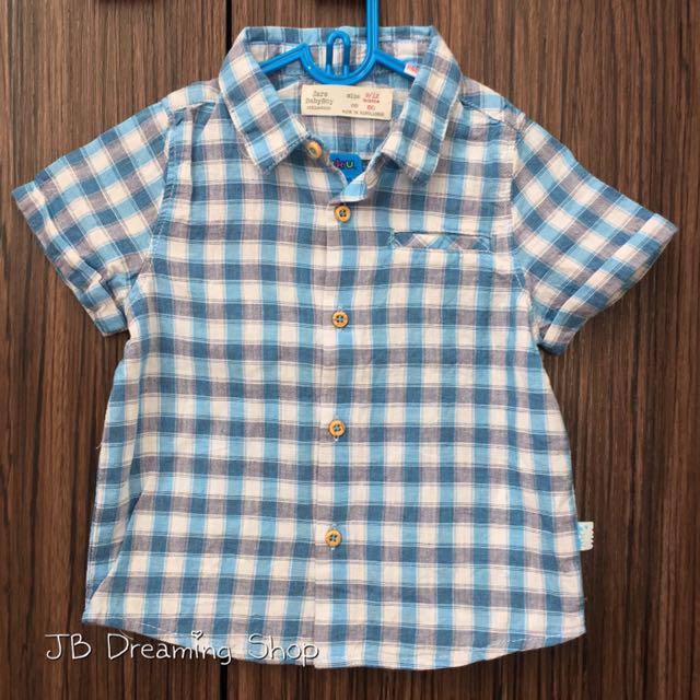兒子的二手童裝💕Zara Baby 格子襯衫