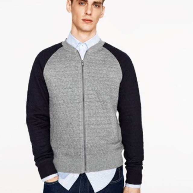 7230c2ebb Zara Two Toned Quilted Bomber Jacket