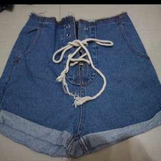 Hw Tied Jeans Size M