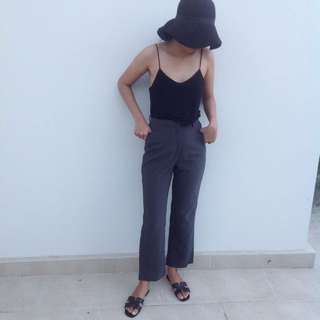Dark Grey Highwaist Kulot