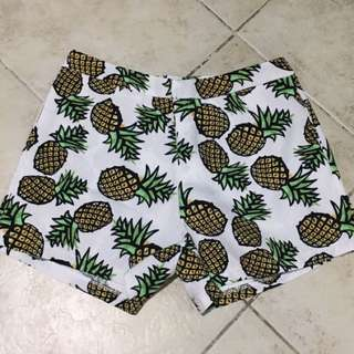 GTWFab Pineapple High Waisted Shorts