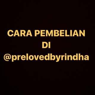 CARA PEMBELIAN DI @prelovedbyrindha