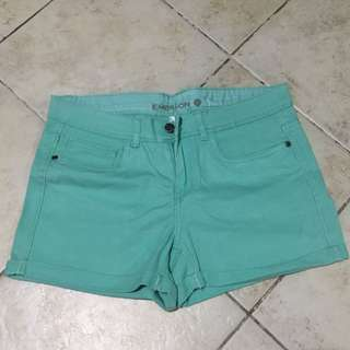 Midwaist Mint Green Shorts