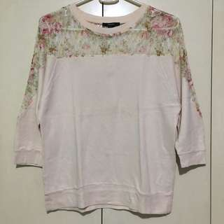 Forever 21 Floral Lace Sweater