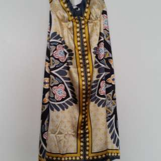 Scarf Style Silk Effect Dress