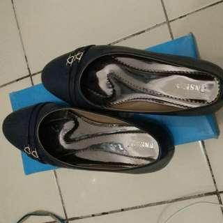 Flat Shoes Inside Biru Dongker Love