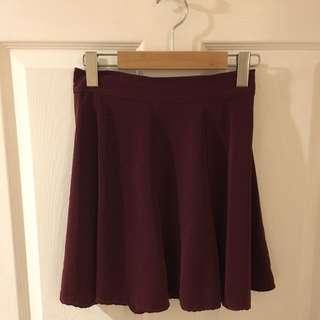 Burgundy Brandy Melville Skirt