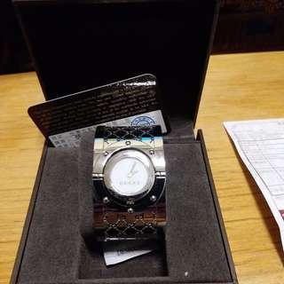 正品GUCCI寬版手腕手錶9成新正品