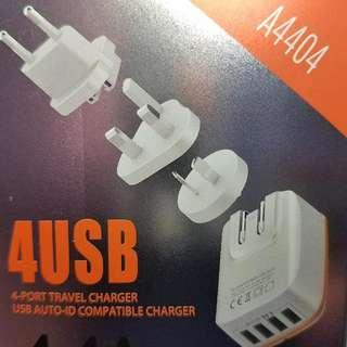 包平郵 全球電壓 原裝 LDNIO A4404 4u 火牛 usb charger 4.4A 充電器 澳洲,歐洲,韓國,中國,日本,泰國,美國,台灣,香港,英國,愛爾蘭,新加坡 馬來西亞  iPhone 7 6 5  iPad Mini 2 3 4