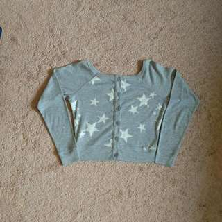 Garage Front/Back Reversible Long Sleeved Crop Top - Size Extra Small (XS)