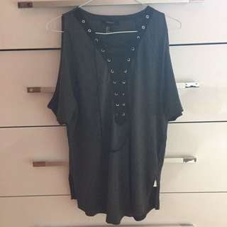 Forever 21 Lace Up Top