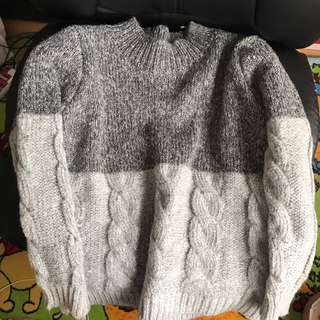 Two Toned Grey Sweater