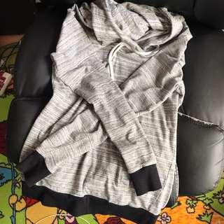 Scrunch Neck Grey Hoodie