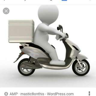 Looking For Part Time Or Adhoc Delivery Man With Motorbike