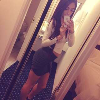 Grey Knot Bodycon Skirt