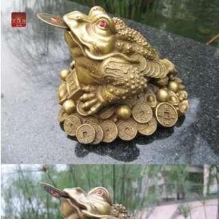 中型三腳蟾蜍黃銅器銅雕背七星陣法寶招財有陣法無往不利大吉大利齊開得勝數量有限