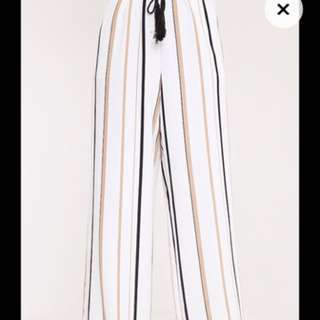 White Stripe Trousers
