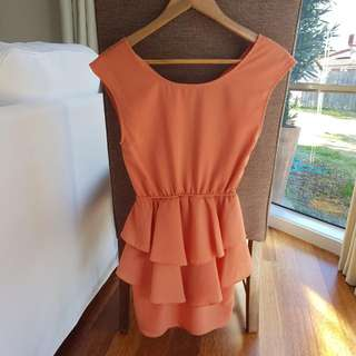 Orange Dress Size 6