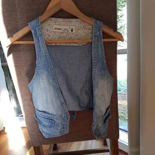 Just Jeans Denim Vest Size 6