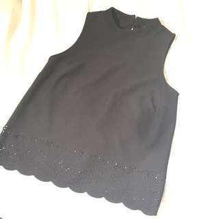 Black Cut Out Detail Top