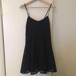 Topshop Black Lace Style Dress