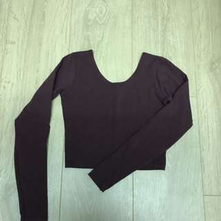 AA Crop Top in XS (burgundy)