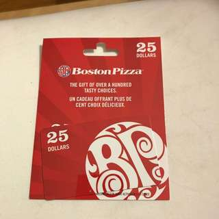 $25 Boston Pizza Gift Card