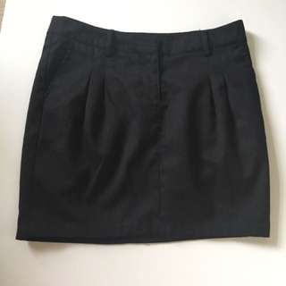 BLACK BUSINESS SKIRT