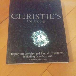 Christie's 珠寶/ 手錶拍賣目錄 Christie's Jewelry And Fine Wristwatches Auction Catalogue