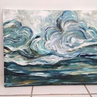 Sea Scape Modern Art
