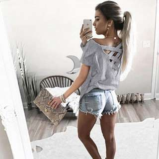 Oversize Grey Shirt From Shein