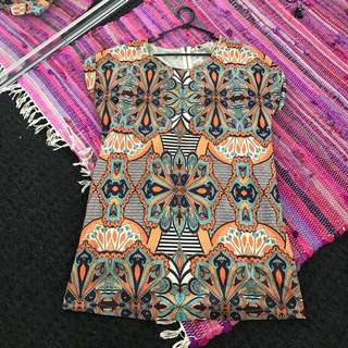 Patterned Tshirt Dress